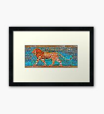 Assyrian Lion Framed Print
