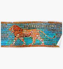 Assyrian Lion Poster