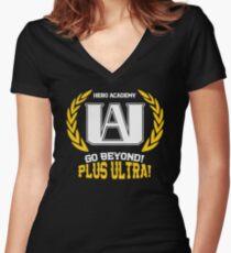Hero Academy Women's Fitted V-Neck T-Shirt