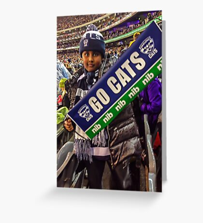 Go Cats! - J at the G Greeting Card