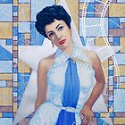 Elizabeth Taylor, fine art portrait, Old Hollywood  by clipsocallipso