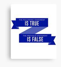 Silly True or False Mind Teaser Funny Design Canvas Print
