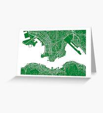 Hong Kong Map Greeting Card