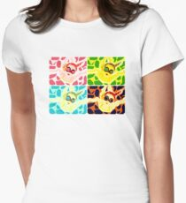 Goggle Girl Color Grid Womens Fitted T-Shirt