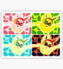 Goggle Girl Color Grid Sticker