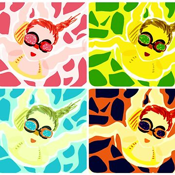 Goggle Girl Color Grid by EvePenman