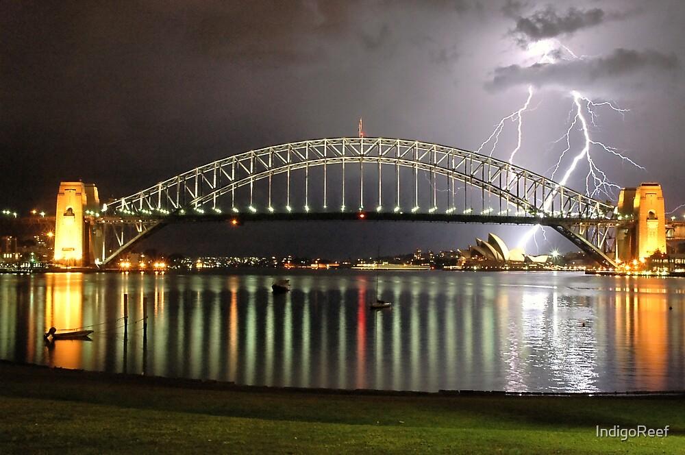 Sydney Harbour Lightning by IndigoReef