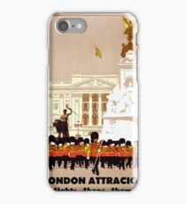 London Attractions, sights, shops, shows, vintage travel poster iPhone Case/Skin