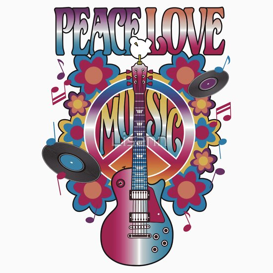 TShirtGifter presents: Peace, Love and Music
