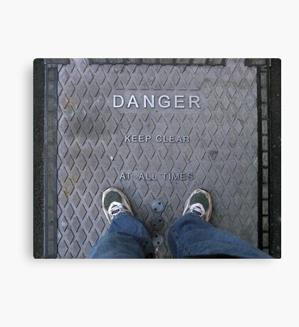 Living Dangerously.. Canvas Print