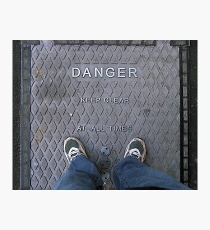 Living Dangerously.. Photographic Print