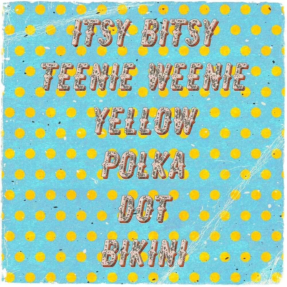 Itsy Bitsy Teenie Weenie Yellow Polka Dot Bikini - Square - The Bikini celebrates its 70th Birthday by Hell-Prints