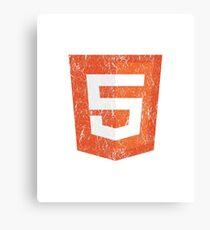 Vintage Distressed HTML5 Canvas Print