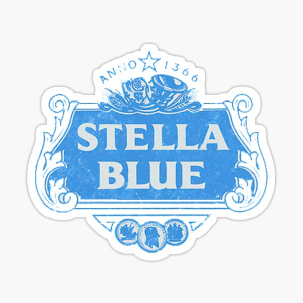 Stella Blue Sticker
