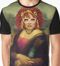 Moaner Linda (Gold Frame) Graphic T-Shirt