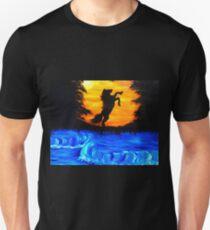 Dark horse /orange light Unisex T-Shirt