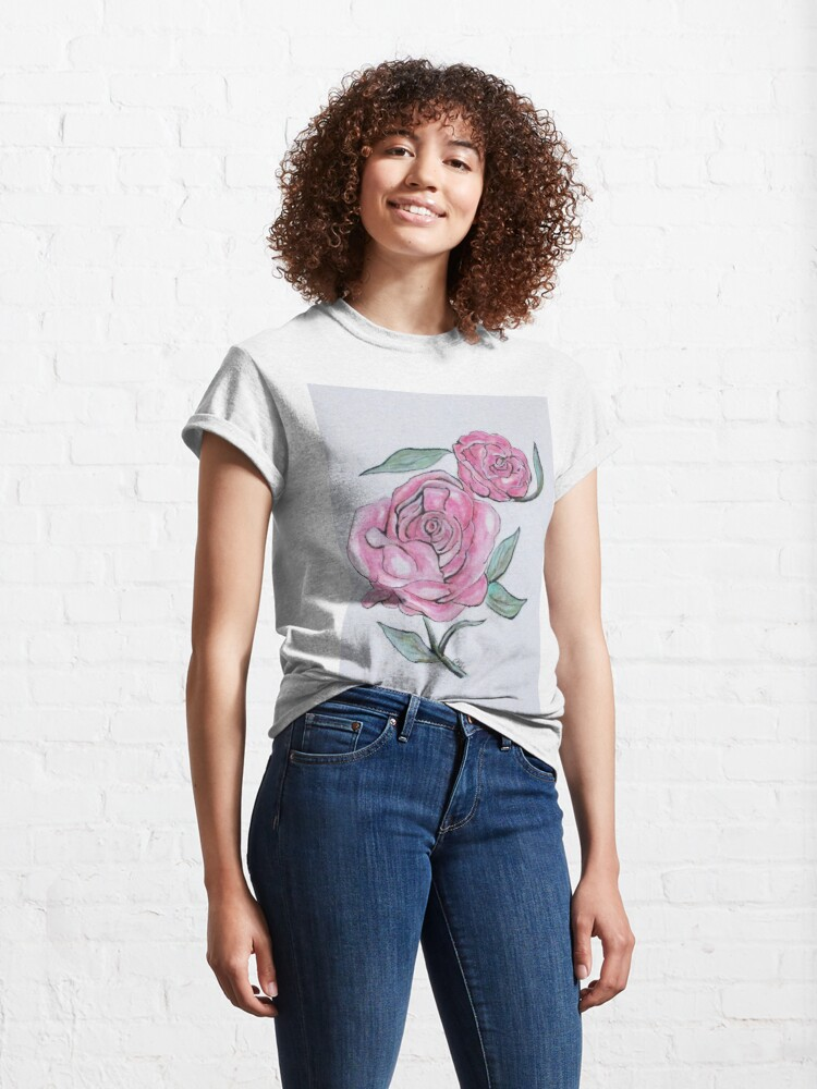 Alternate view of Pretty And Pink Roses Classic T-Shirt