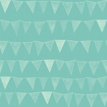 Mint Pennant Bunting by lollylocket