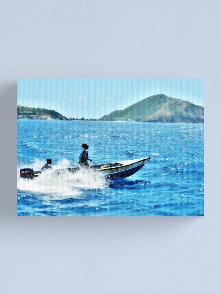 Alternate view of Indigo Seas Canvas Print