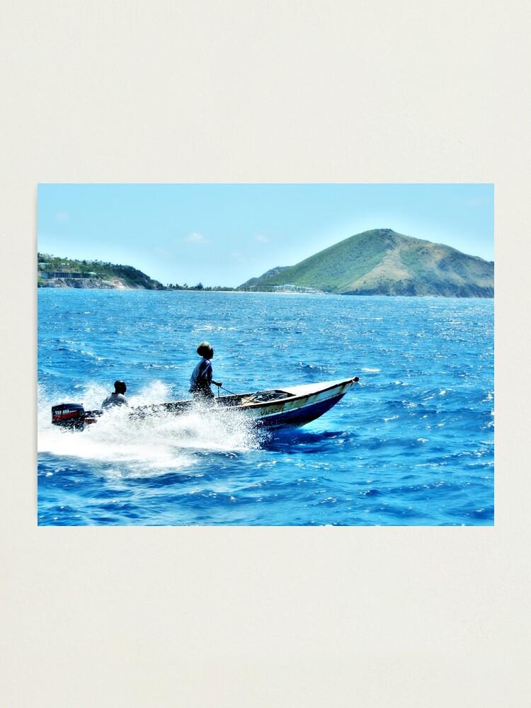 Alternate view of Indigo Seas Photographic Print
