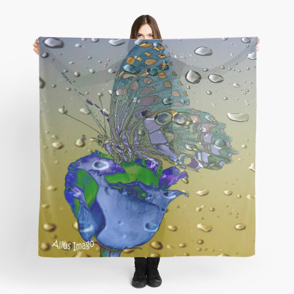 Raindrops - Madagascar Swallowtail Butterfly Scarf