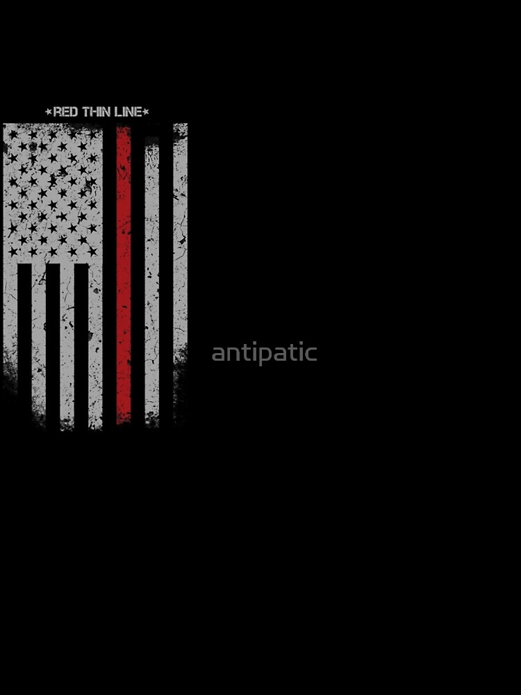 RED THIN LINE FIREFIGHTER by antipatic