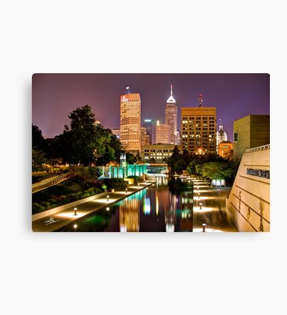 Indianapolis Skyline (Canal Walk Bridge View) Canvas Print