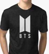 BTS new logo white Tri-blend T-Shirt