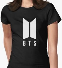 BTS new logo white Women's Fitted T-Shirt