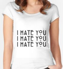 """I hate you!"" Dandy Mott Quote Women's Fitted Scoop T-Shirt"