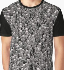 Skeletons crowd Graphic T-Shirt
