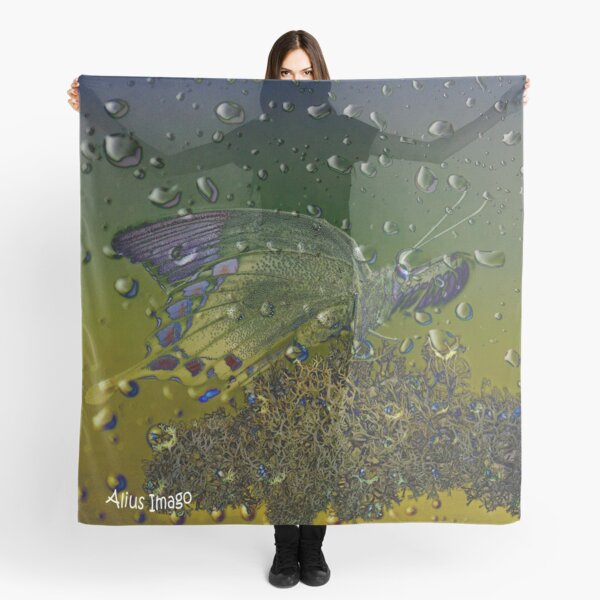 Raindrops - Sulawesi Peacock Butterfly Scarf