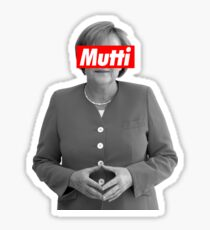 Mutti Merkel Sticker