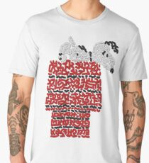 Snoopy on his dog kennel Men's Premium T-Shirt