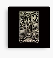 BB King Hollywood Bowl Vintage Concert Poster Canvas Print