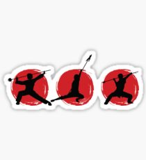 Wushu Silhouettes, Weapon Poses Sticker
