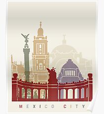 Mexiko Stadt Skyline Poster Poster