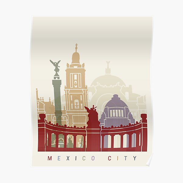 Mexico city skyline poster  Poster