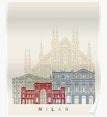 Milan V2 skyline poster Poster