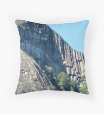 Igneous columns of the Glasshouse Mountains, Qld, Australia Throw Pillow