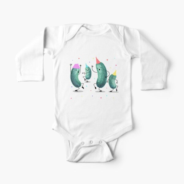 Pickle Party! Long Sleeve Baby One-Piece