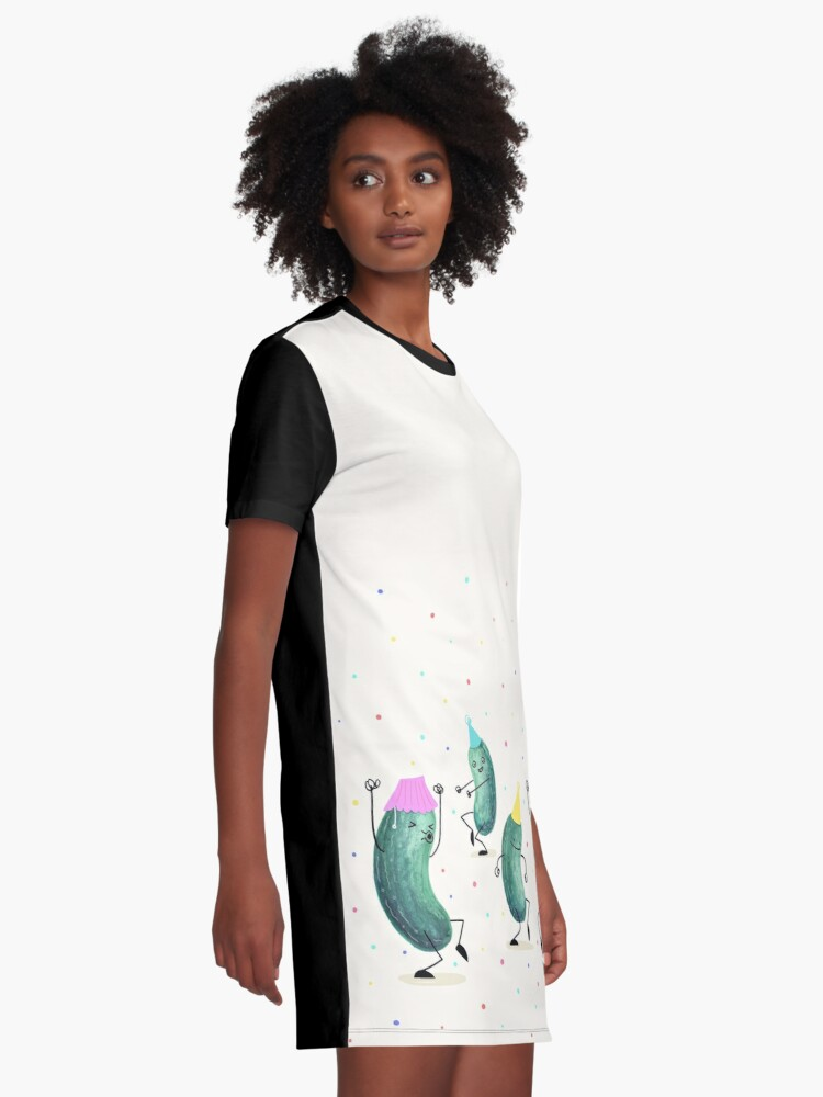 Alternate view of Pickle Party! Graphic T-Shirt Dress