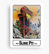 He-Man - Slime Pit - Trading Card Design Metal Print