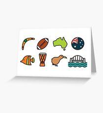 Australian Icons Greeting Card