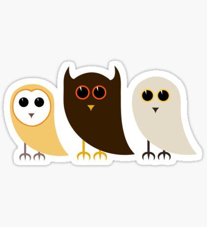 Cute Owls Pattern Sticker
