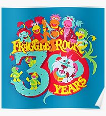 30 years Fraggle Rock Poster