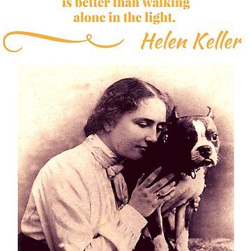 Helen Keller with Her Boston Terrier  by Julie7526