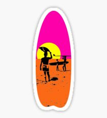 The endless summer surfboard Sticker