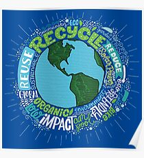 Earth Healthy Environment Art Drawing Poster
