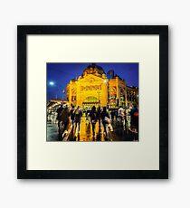 Flinders St Station Framed Print
